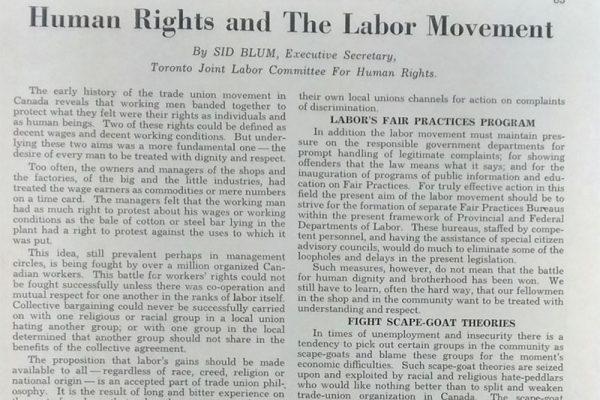 人權和勞工運動